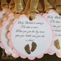Gold and Pink Baby Shower Favors
