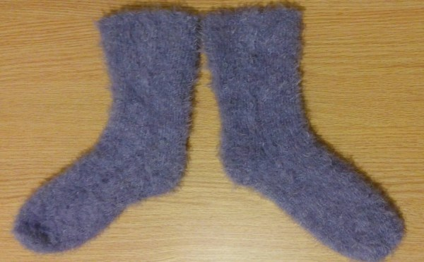 Purple Fuzzy Socks Vmadetextiles