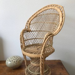 Chair Planter Stand Tufted Dining Chairs Set Of 2 Dolls Peacock Rattan Wicker Plant High Back