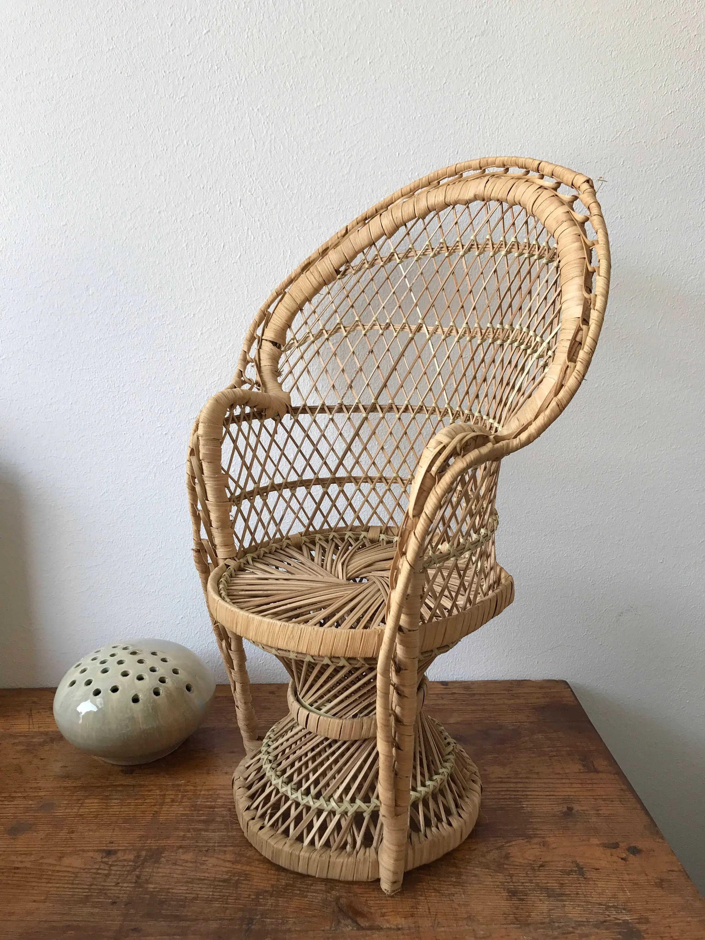 back of chair mannequin stand dining room chairs with arms dolls peacock rattan wicker plant high