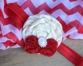 Red and Cream Baby Satin ...