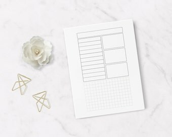 Items similar to Printable month & goal 2016 planner