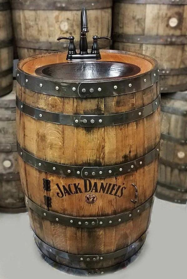 Wooden Barrel Sink