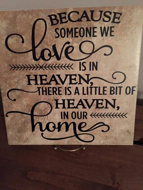 Download Because someone we love is in Heaven, Ceramic Tile ...