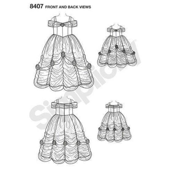 Simplicity D0652/8407 Disney Princess Beauty Belle