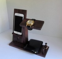Iphone Stand with Mens Valet Men Watch Holder Men Watch Stand