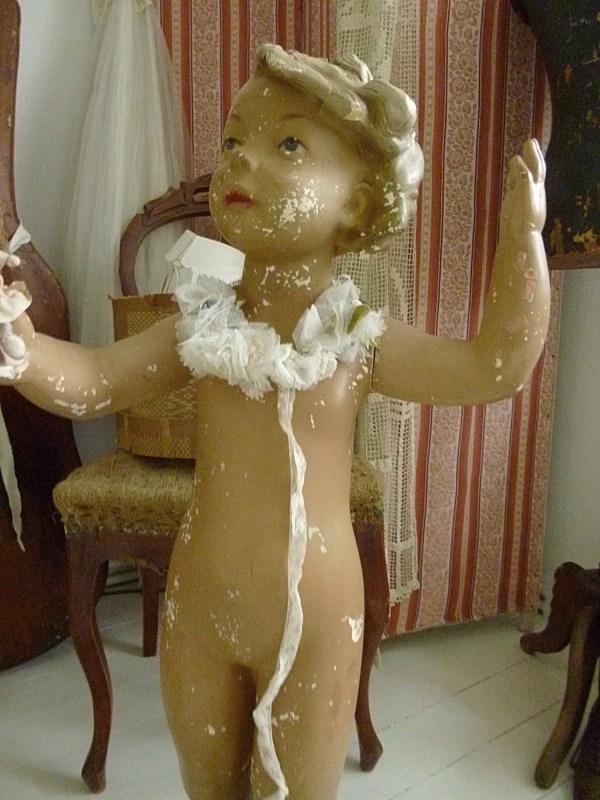 Beautiful Antique Mannequin Display Dummy Child Plaster
