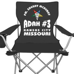 Custom Folding Chairs Wheeless Office Chair Personalized Oes Order Of Eastern Star
