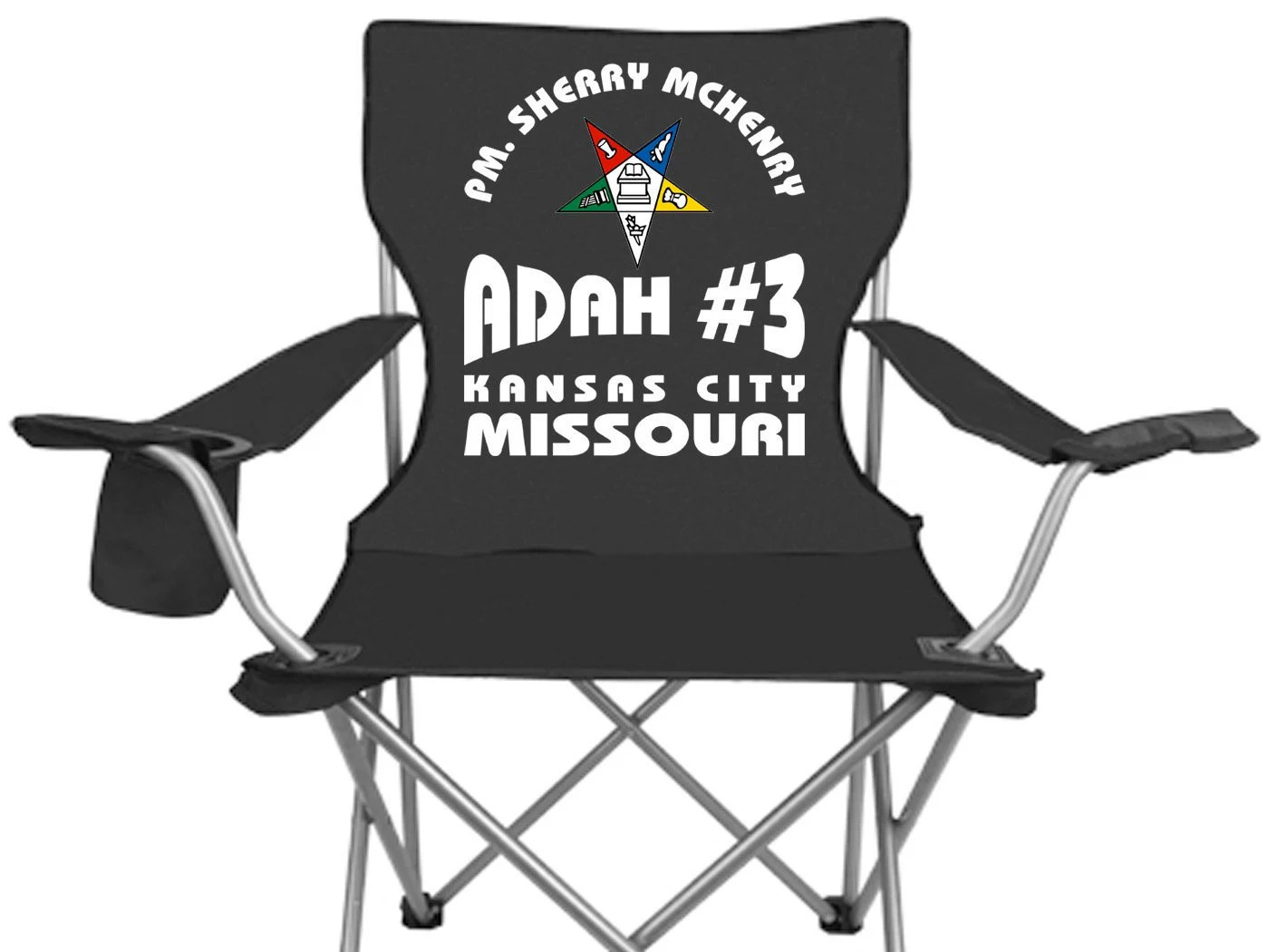 personalized folding chair garage chairs rolling oes order of eastern star