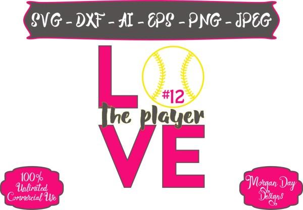 Softball Svg Love Player