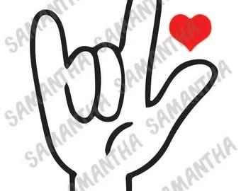 Download Sign language vinyl | Etsy
