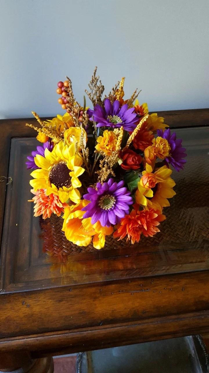 Fall Centerpiece Centerpieces For Weddings Silk Sunflower