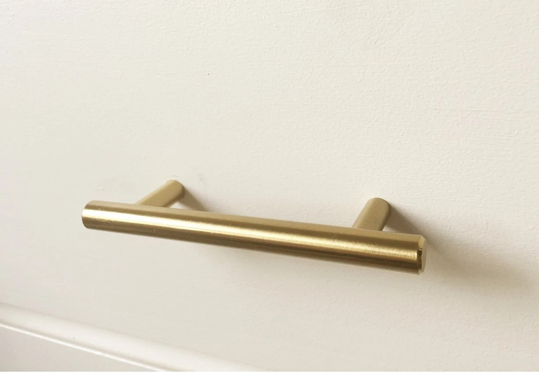 brass hardware kitchen wine themed rugs 2 5 european drawer pull cabinet knobs t bar