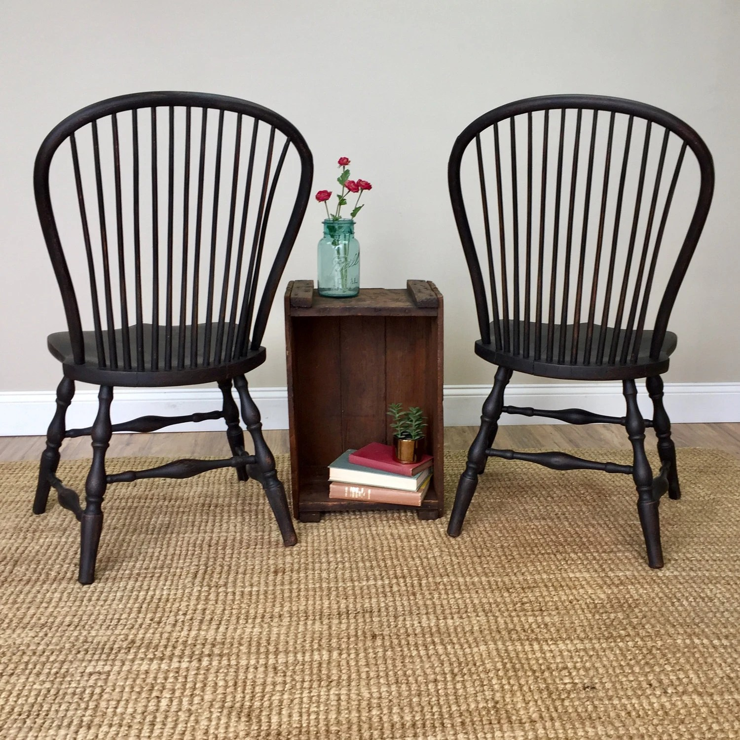 Windsor Style Chairs Black Windsor Chairs Farmhouse Dining Chairs Antique