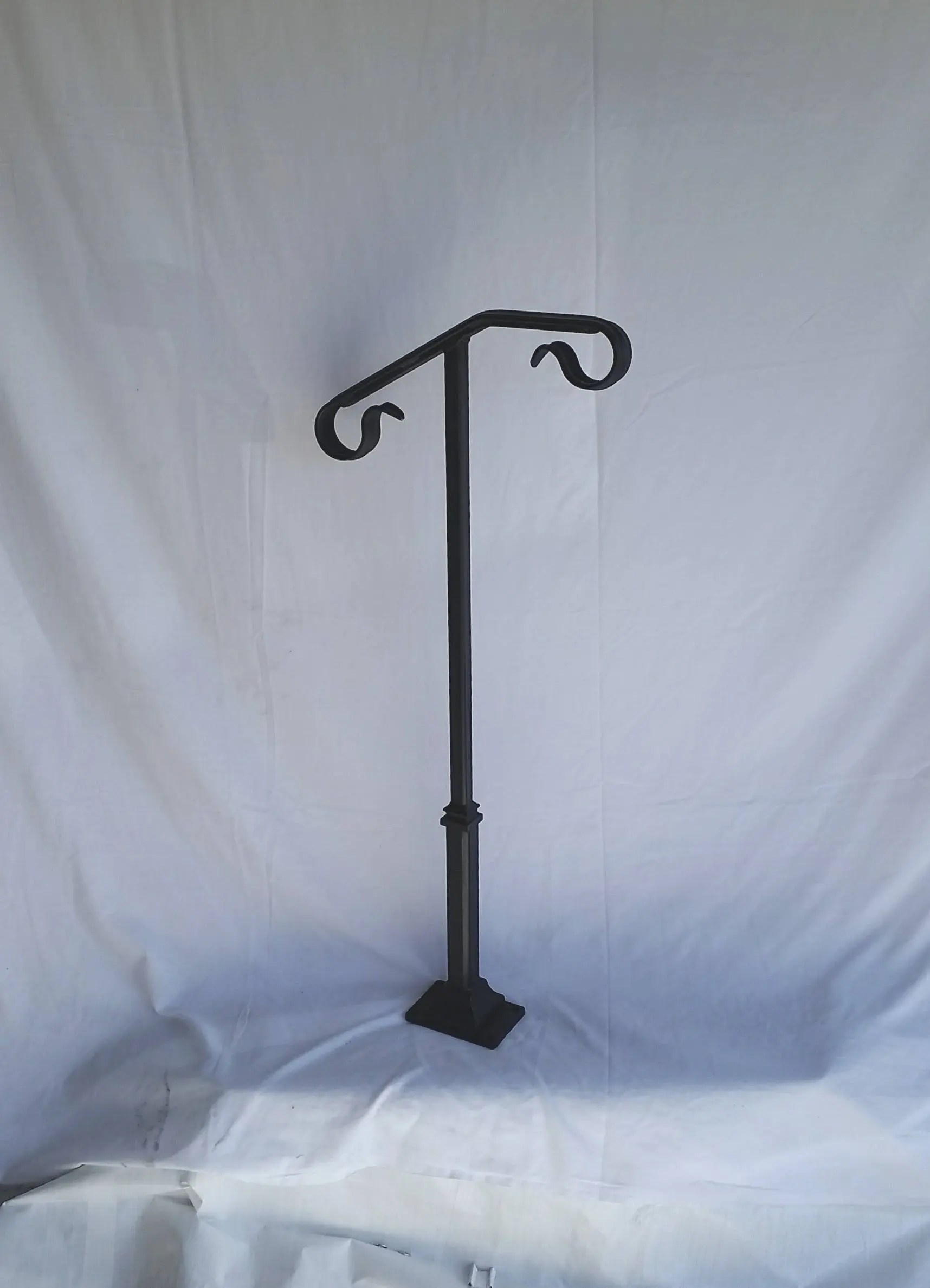 Single Post Hand Rail 1 or 2 step railing for stairs steel handrail with hardware Super Sturdy