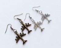 Airplane earrings | Etsy