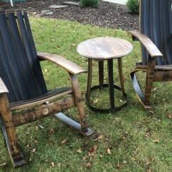 Wine Adirondack Chair Foldable Ergonomic Chairs Barrel Rocking Bourbon Whiskey