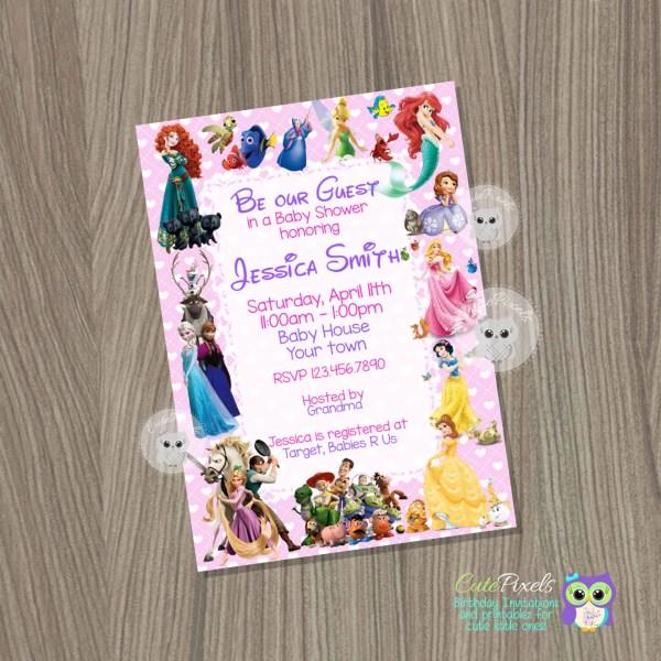 Baby Shower Invitation Girl Disney