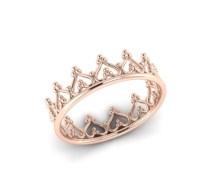 Princess ring 14k rose gold tiara ring crown ring