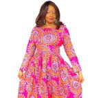African Clothing. Print Maxi Dress Ankara