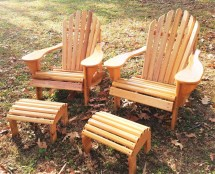 Classic Adirondack Chair With Stool Cypress Dfcrafting
