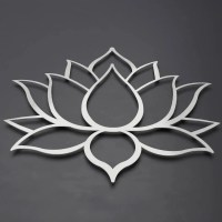 Brushed Lotus Flower Metal Wall Art Lotus Metal Art Lotus