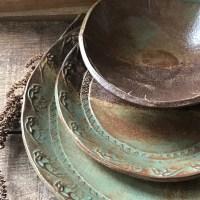 Wild Buffalo Dinnerware Set Native American Dinner & Salad