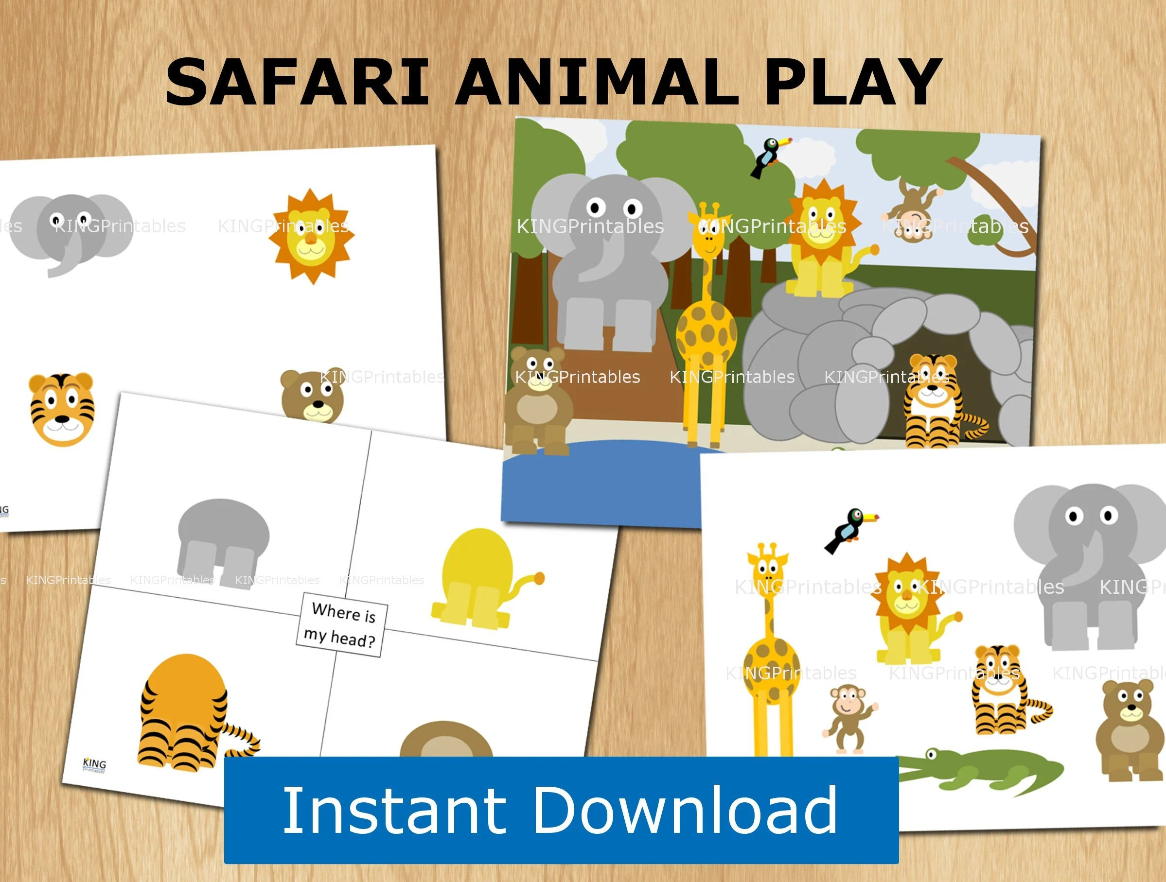 Instant Download Safari Animals File Folder Games Busy