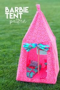 Barbie tent and sleeping bag PATTERN