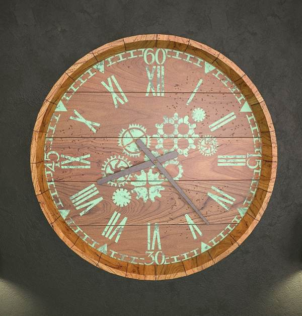 Steampunk Clock Stencil