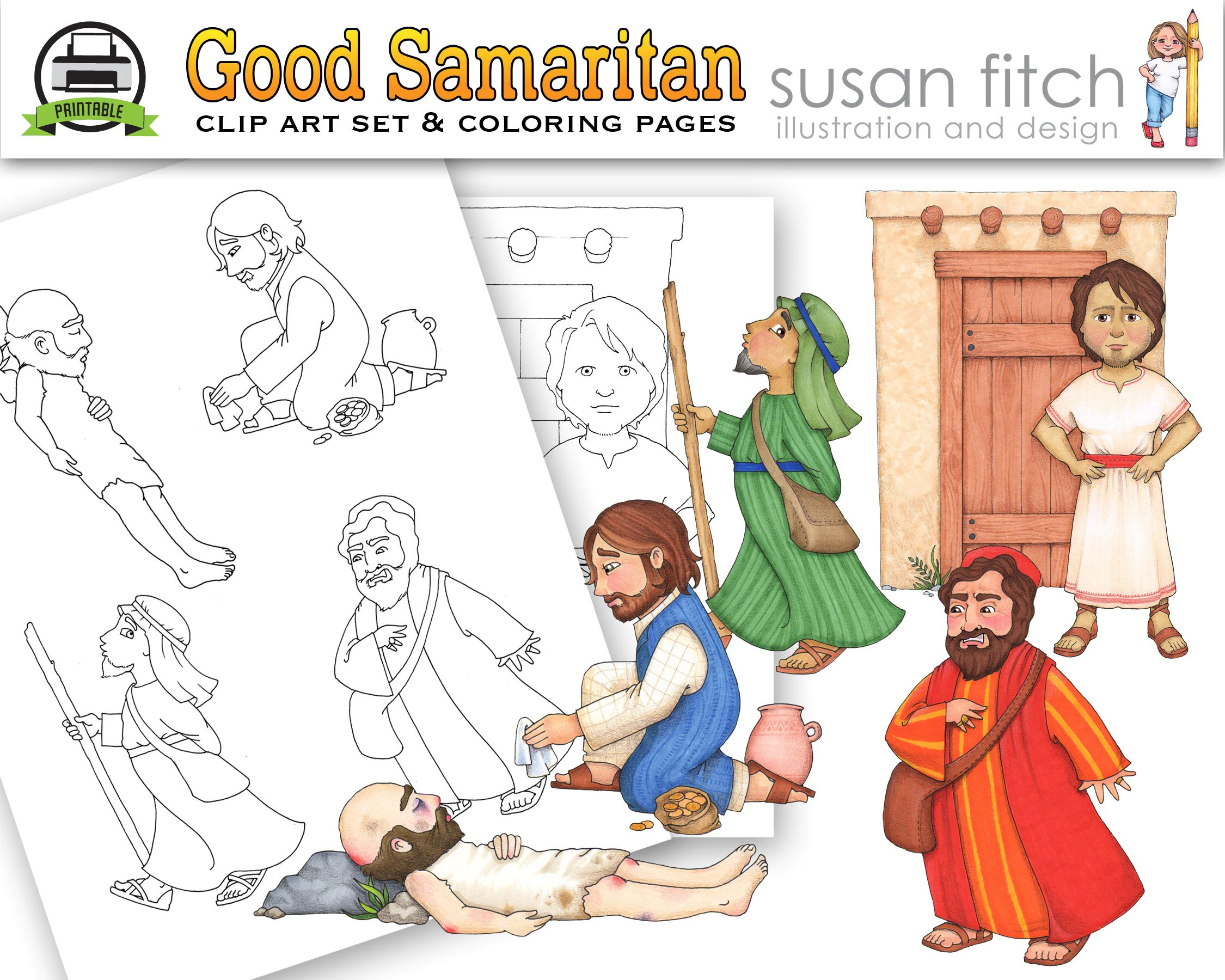 Elegant Jesus Heals Lepers Coloring Page