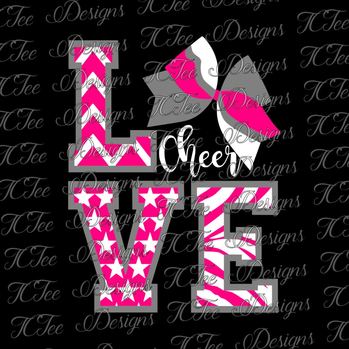 Download Love Cheer - SVG from TCTeeDesigns on Etsy Studio