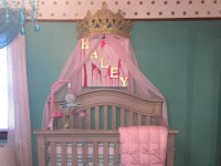 Crown Canopy Wall Decor Choice of Color with Sheers