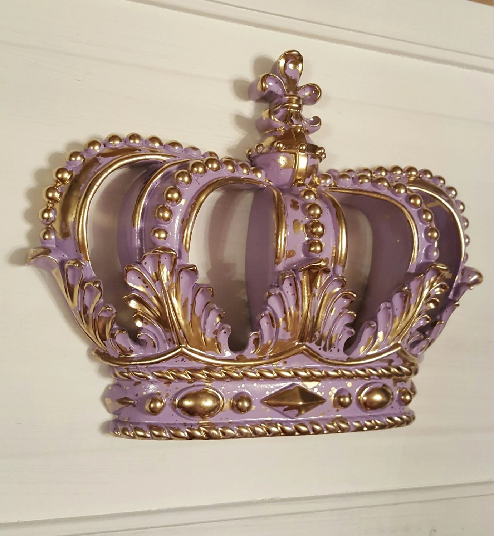 Lavendar Gold Crown Wall Decor Nursery Decor Crib Crown Canopy