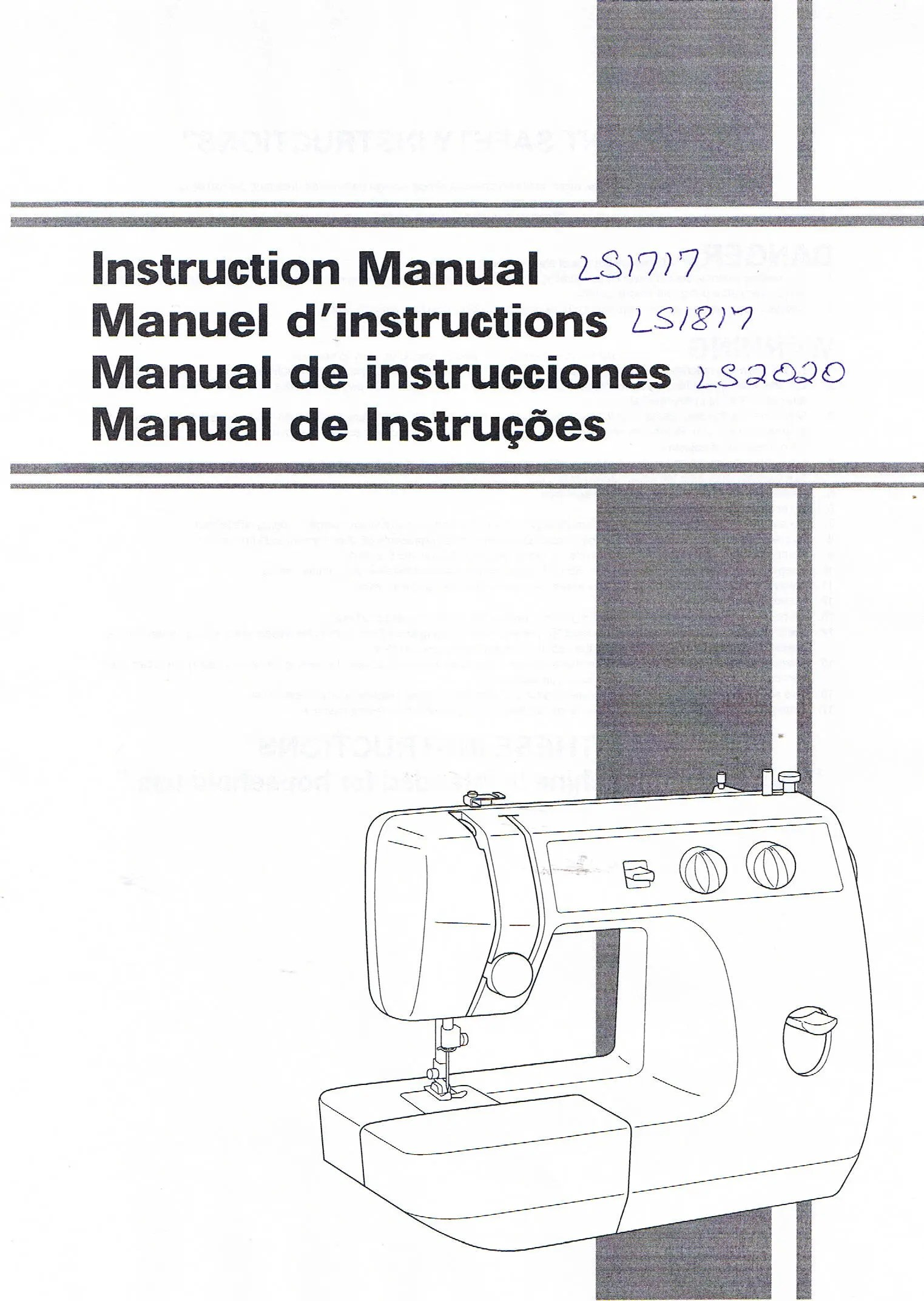 Brother LS1717 LS1817 LS2020 Sewing Machine Operation