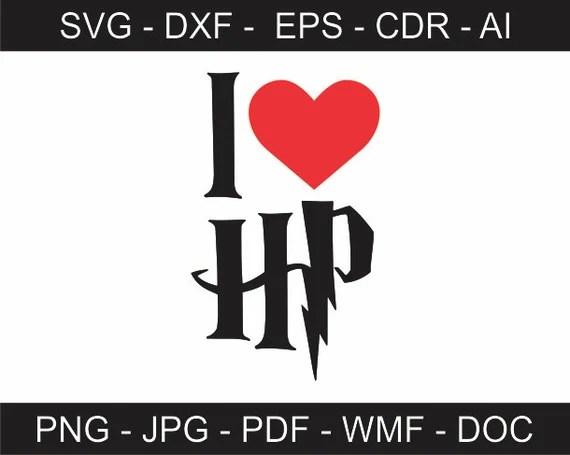 Download I Love Harry Potter - svg - ai - dxf - cdr - pat - jpeg ...