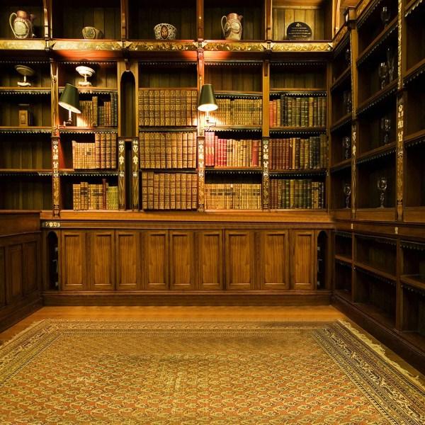 Study Room Backdrop - Bookcase Bookrack Vintage Library