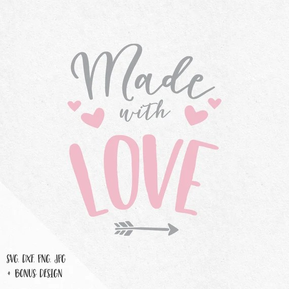 Download Made with love svg valentine svg sayings svg by SVGbyIdearia