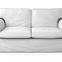 Hovas Sofa Dimensions Suppliers Edinburgh Ikea Ektorp Cover 2 Seater In Gaia White Cotton Fabrics