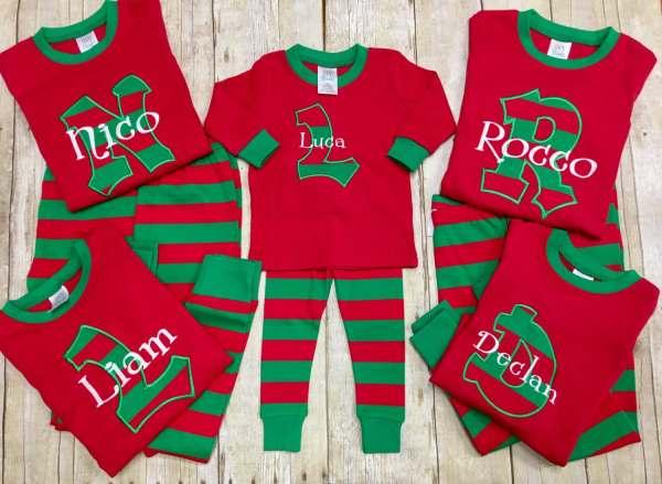 Personalized Christmas Pajamas Kids Pj'