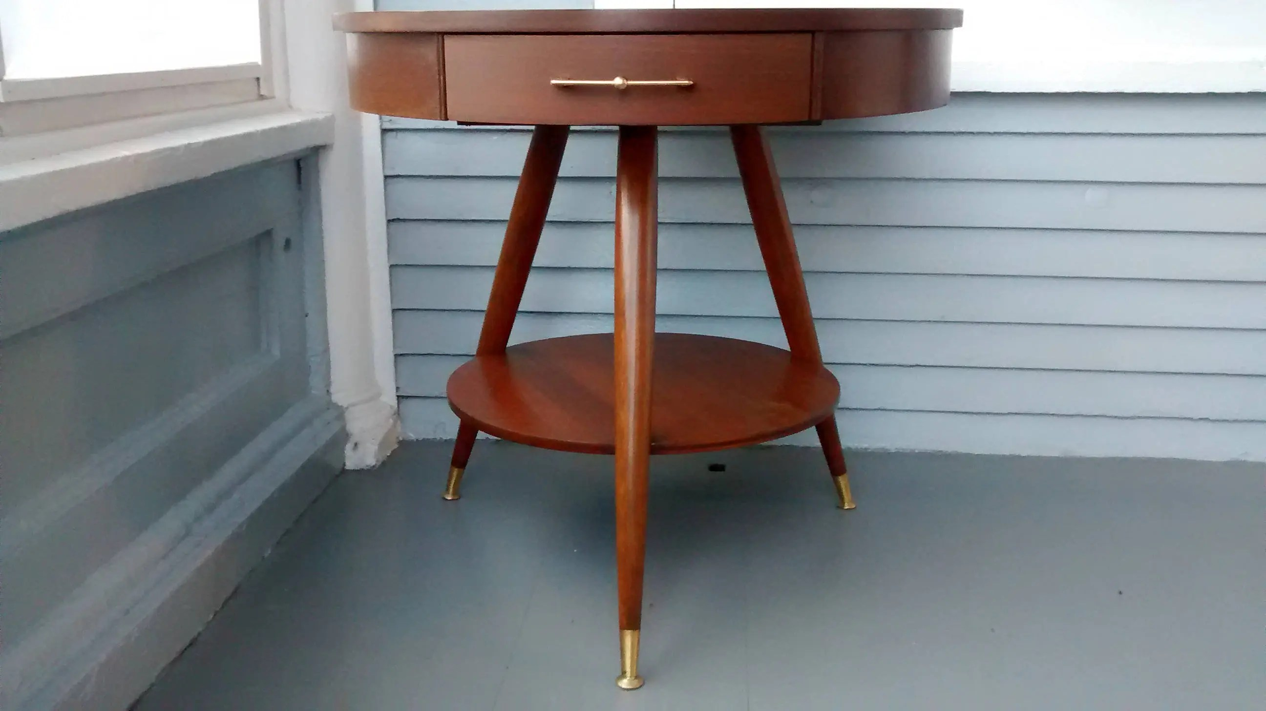 Sale, Mersman, Mid Century, Entrance Table, Drum Table