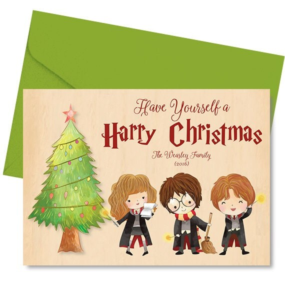 Harry Potter Christmas Card Harry Potter Holiday Card Have