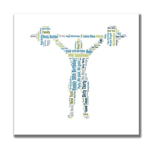Ice Skate Boot personalised word art by YourOwnWords on Etsy