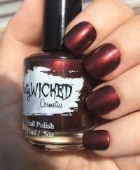 Dark Reddish Black Nail Polish, Carrie Polish, Dark Nail ...