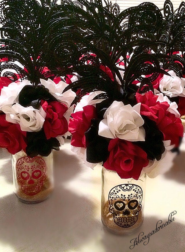 Day of the Dead centerpiece Quinceaera Sugar Skulls
