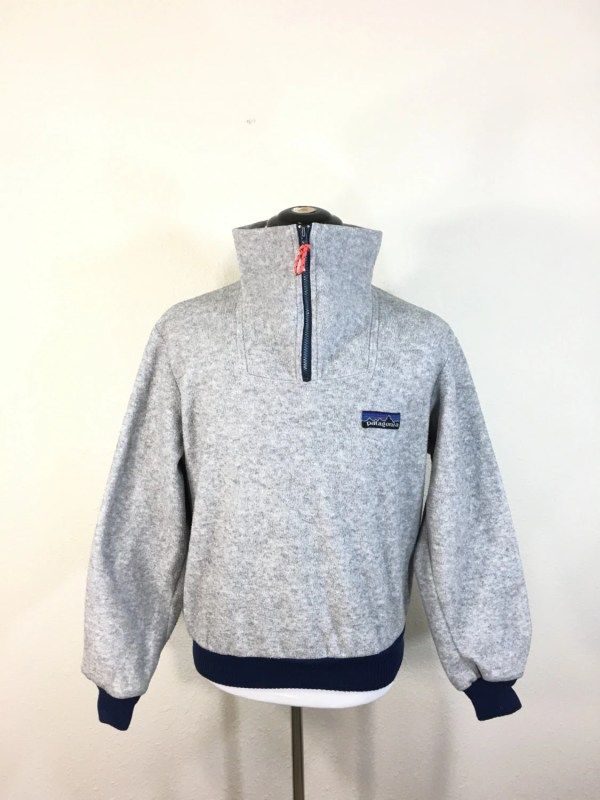 80' Vintage Patagonia Pullover Fleece Jacket Zip