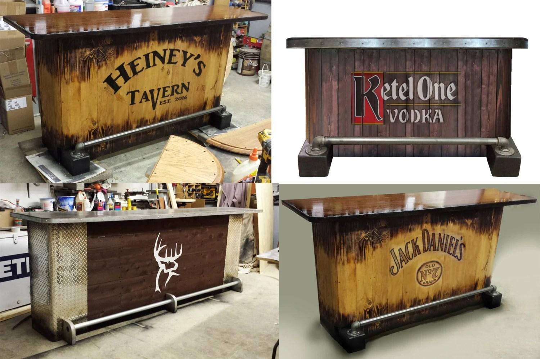 Home Bar Custom Hand Built Rustic Whiskey, Pub, Man Cave