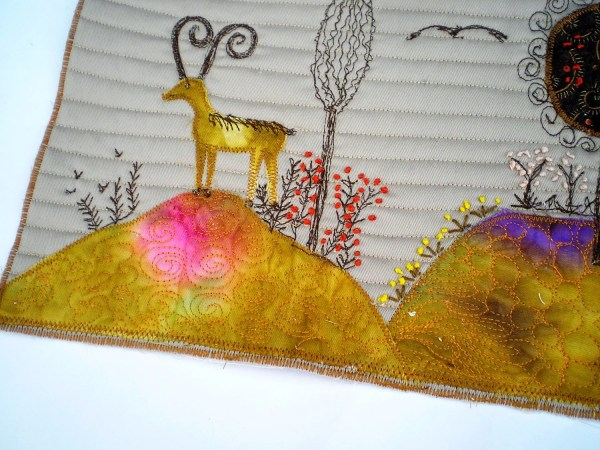 Fabric Art Collage Landscapes