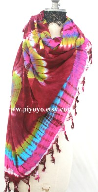 Red Tie dye tye die infinity scarves most popular item