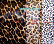 hair leather animal print genuine